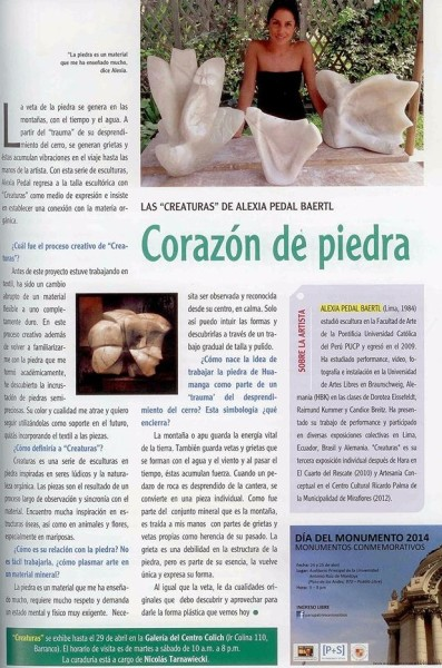 2Corazon de Piedra, Revista Voces